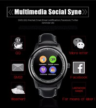 DUAL-CORE-CHIP-DM365 LEM1 smart uhr Bluetooth IP67 wasserdichte Runde smartwatch IOS Android für iphone k8 smart uhr KW18 gw01 huawei uhr
