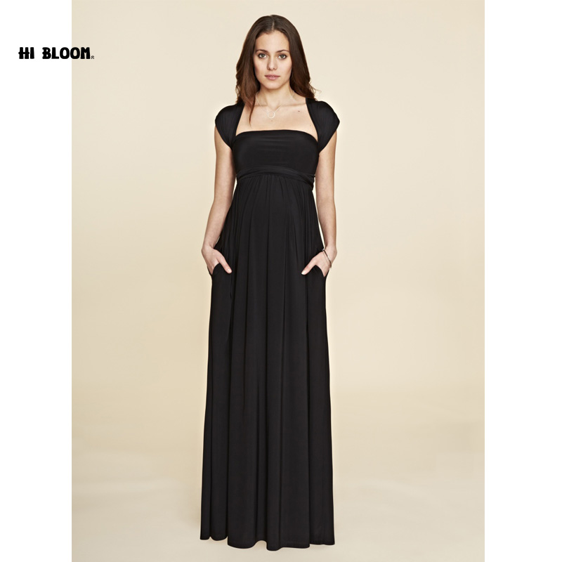 Lovely Maternity Clothes Sashes Maternity Dress Elegant Evening Party Dress For Pregnancy Long Evening Gowns Office Lady Vestido вечернее платье elegant evening gowns 2015 vestido sexy long evening dress