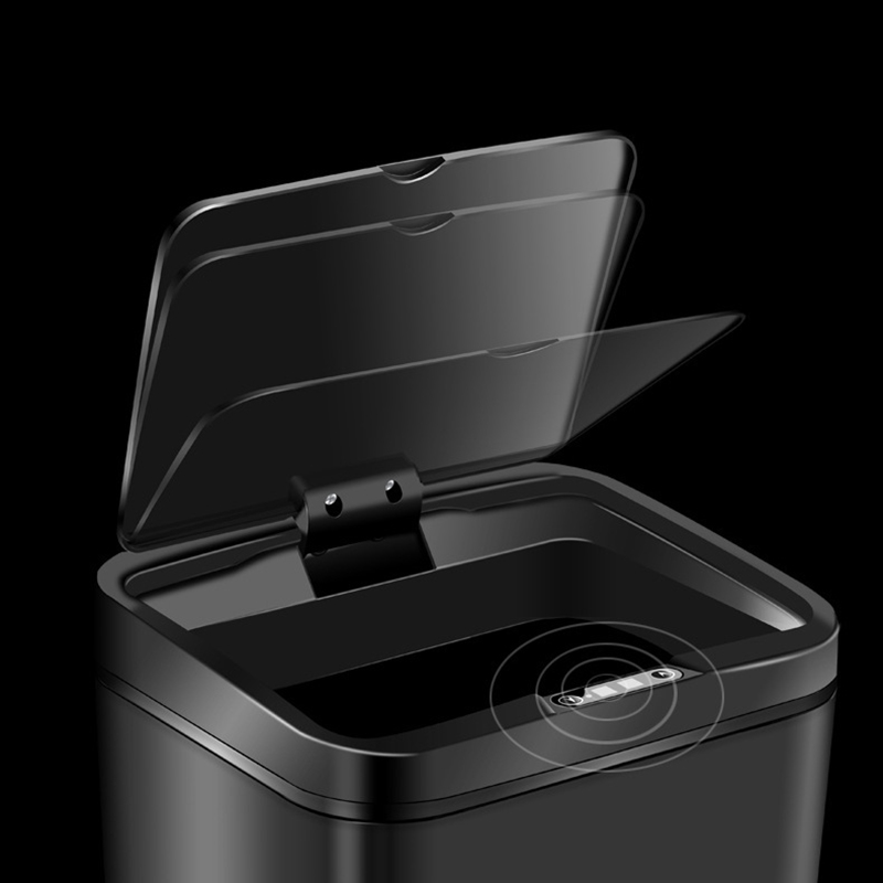 Touch free Waste Bin Swing lid Removable inner bucket Trash Holder Container Kitchen Bathroom USB Charging Home