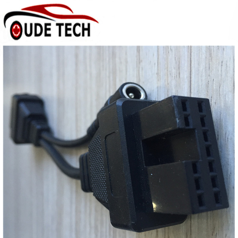 for  Mitsubishi 12Pin To 16Pin OBD Diagnostic Adapter Car Cable obd2 Connector All Free Shipping