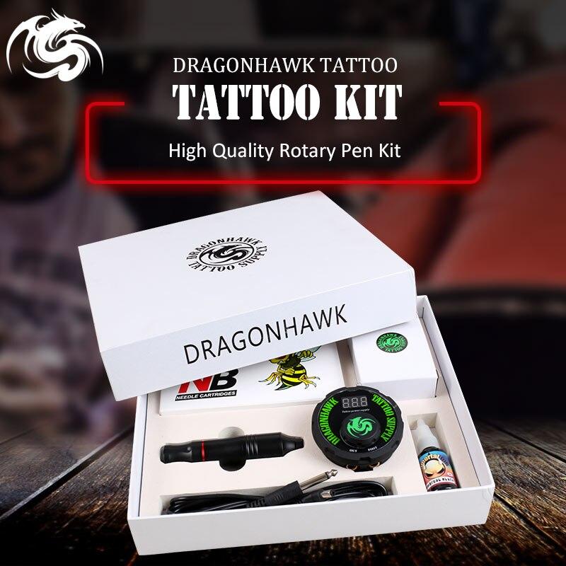 цена на Professional Tattoo Kit Set Rotary Tattoo Machine Pen Power Ink Sets Needles Accessories