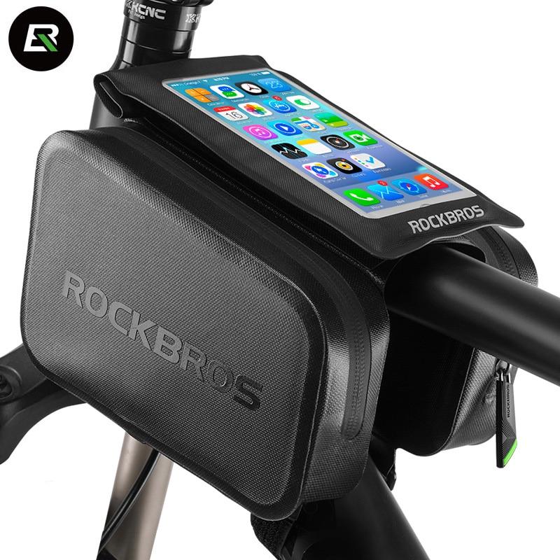Rockbros MTB Road Bike font b Bag b font Waterproof 6 0 Phone Case font b