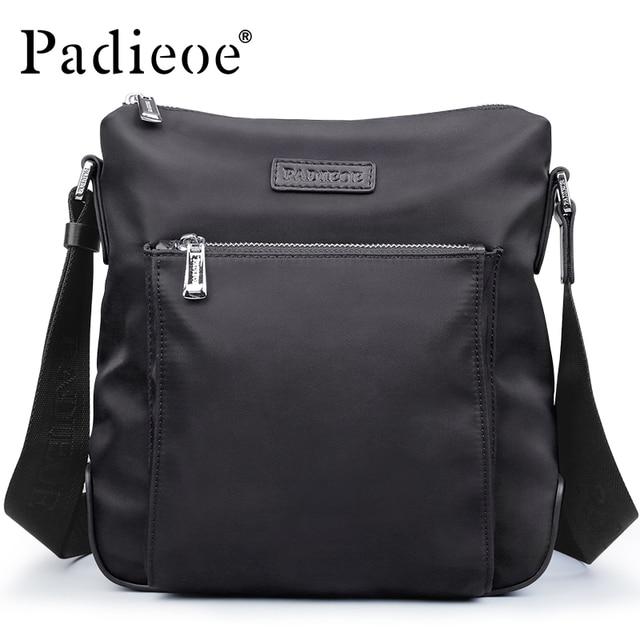Padieoe Waterproof Men s Nylon Shoulder Bag Fashion Casual Male Crossbody  Bag Ultra Light Nylon Messenger Bag b33b915739cfe