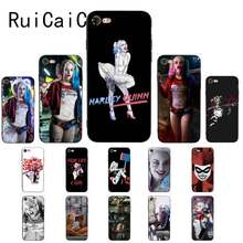 Ruicaica DC Harley Quinn Suicide Squad Joker Wink Pola Ponsel Case untuk Aku 5Sx 6 7 7 Plus 8 8 Plus X XS Max XR 10 Cover(China)