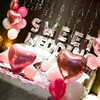1Set Sweet Wedding Decoratons Alphabet Foil Balloon Helium Pink Latex Balloons Bride Wedding Room Backdrop Just