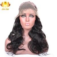AliAfee волос 150% плотность Синтетические волосы на кружеве человеческих волос парики бразильские волосы парик бразильский объемная волна Natural