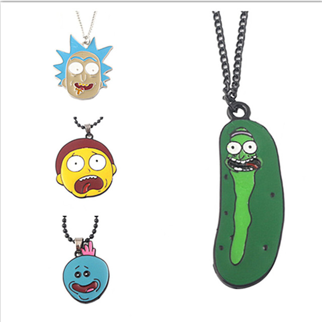 Movie enamel Rick and Morty cartoon Necklace Charm Pendant ewelry Accessories
