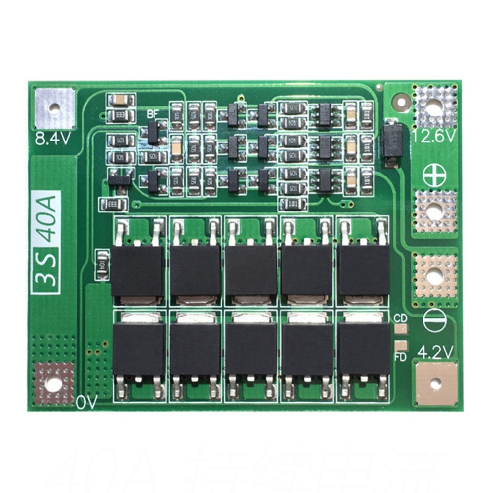 Power Source Constructive 3s 40a 11.1v 12.6v 18650 Lithium Battery Protection Board Standard Hot Sale Beneficial To Essential Medulla