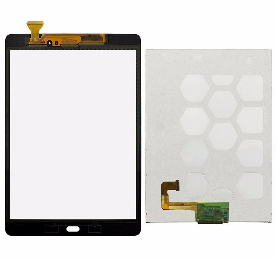 Gray / White Touch Screen Sensor Glass Digitizer + Lcd Display Panel Screen For Samsung Galaxy Tab A 9.7 SM-T550 T550 T551 T555 new for samsung galaxy tab a 9 7 sm t550 t550 wifi white touch screen digitizer repairment parts tablet pc free shipping