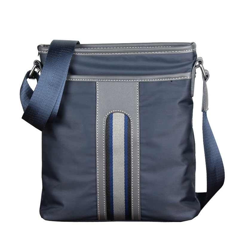 Luxury Brand Men Business Messenger Bag For Man Oxford Casual Small Shoulder Bag Male Blue Waterproof Nylon Stripe Crossbody Bag