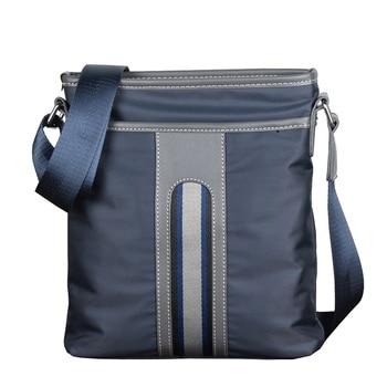 Luxury Brand Men Business Messenger Bag For Man Oxford Casual Small Shoulder Bag Male Blue Waterproof Nylon Stripe Crossbody Bag фото