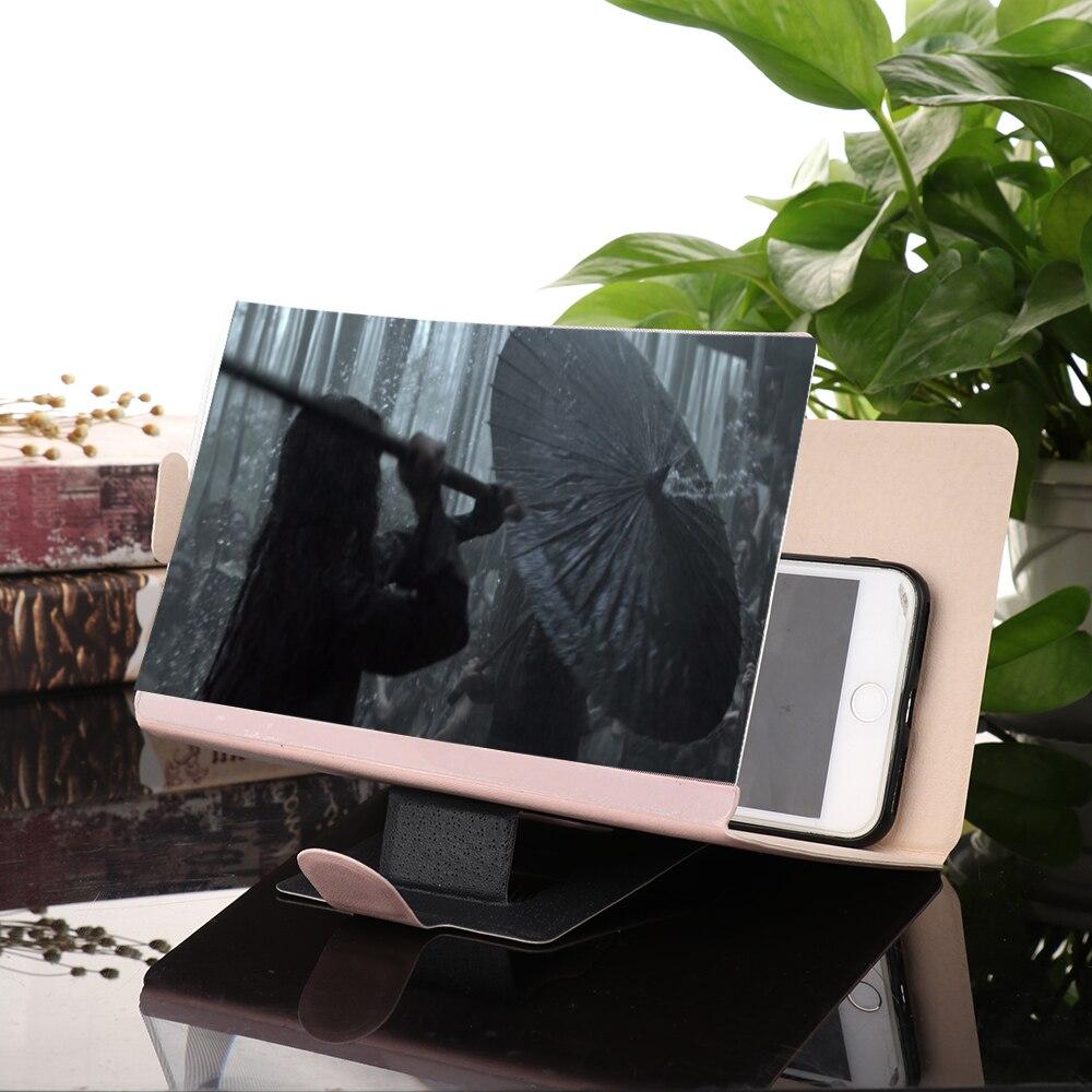 HTB1DIFOXbr1gK0jSZFDq6z9yVXa7 3D Phone Screen Magnifier Stereoscopic Amplifying Desktop Foldable Leather Bracket Mobile Phone Holder Tablet Holder dropshippin