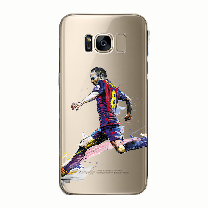 Ronaldo Neymar Messi Cristiano Football Soccer Soft Silicone Phone Case Cover for Samsung Galaxy Note 5 8 S6 S7 S8 S9 edge plus in Fitted Cases from Cellphones Telecommunications