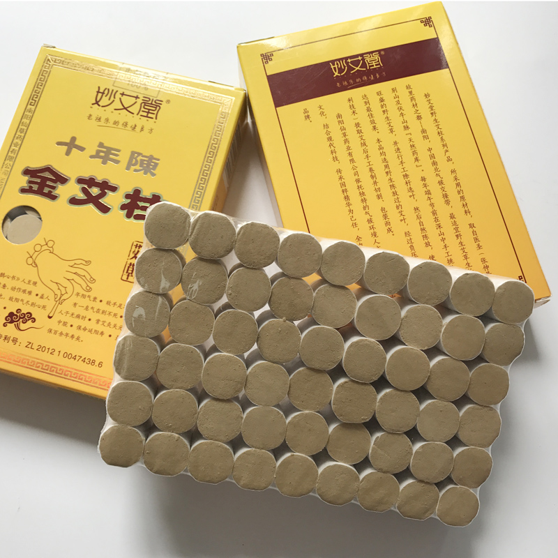 54pcs/box Natural Ten Years Old Moxa Roll Pure Moxa Warm meridians Moxibustion Body Massage Relaxation Moxa stick wholesale
