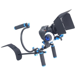 YELANGU Dual Handle Stabilizer For Canon Sony Nikon Camera Shoulder Mount Kit Matte Box Follow Focus DSLR Camera DV Video Camera