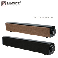 Magift Hifi Bluetooth Speaker Soundbar Wireless Bass Subwoofer 20W Big Power Stereo Family Sound Bar with Mic USB 3.5mm AUX