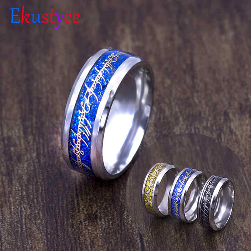 316L Stainless Steel Lord of one Ring Mens Jewelry for Men lord Wedding Band male ring for lovers