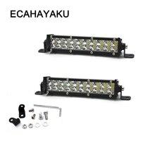 ECAHAYAKU 4pcs 7 inch Slim 60W Led Light Bar Work Lights 12v Spot Beam for Truck boat Tractor ATV SUV 4X4 4WD Off-road Headlight