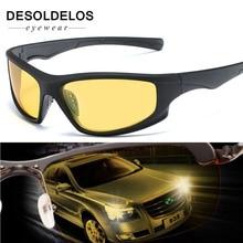 цены на 2019 New Polarized SunglasseS Men UV400 Anti-glare Sun Glasses Black PC Frame Outdoor Sport Goggles De Sol Gafas  в интернет-магазинах