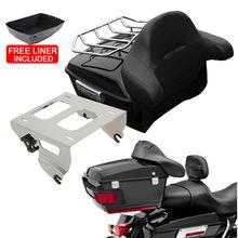 Estante de montaje de respaldo para maletero de motocicleta, para Harley Tour Pak, Touring Road King, Electra Street, Gilde, FLHR, FLH, FLHX, 14 20