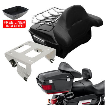 Motorcycle King Pack Trunk Backrest Mounting Rack For Harley Tour Pak Touring Road King Electra Street Gilde FLHR FLH FLHX 14-19