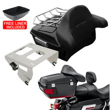 Motorcycle King Tour Pak Pack Trunk & Backrest Mounting Rack For Harley Touring Road King Electra Street Gilde FLHR FLH FLHX