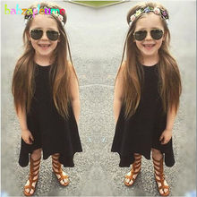0-5Years Summer Style Baby Little Girls Dresses Sleeveless Black Children Dress  Costume For Kids Clothes Infant Clothing BC1171 cc2378a50909