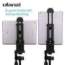 """Ulanzi için profesyonel Tablet Tripod dağı 5 12 evrensel standı kelepçe ayarlanabilir dikey braket tutucu adaptörü 1/4"""""""