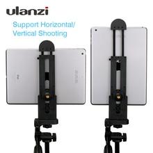 "Ulanzi עבור iPad מקצועי לוח חצובה הר 5 12 אוניברסלי Stand קלאמפ מתכוונן אנכי סוגר בעל מתאם 1/4"""