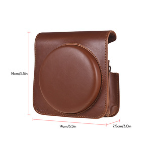Image 5 - Andoer PU Leather Protective Camera Case Bag for Fujifilm Instax Square SQ6 Instant Film Camera Bag with Adjustable Strap
