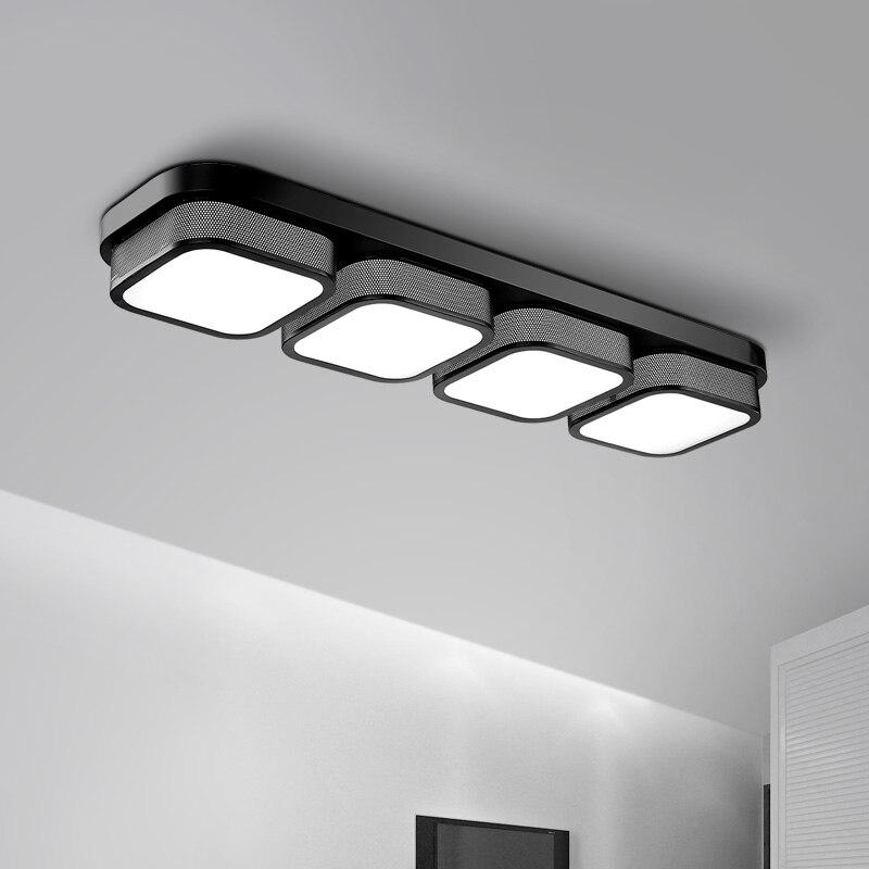 ФОТО Popular living room Ceiling Lights bedroom plafon led lamp luminarias home decoration black/white acrylic shade lampada