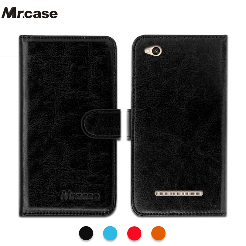 Luxury PU Leather Exclusive Slip resistant Flip wallet case for Xiaomi Redmi 4A Ultra thin Phone