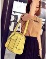 Nuevo 2015 mujeres de la manera breve bolsa de Médico hombro bolso de las mujeres de señora girl bolsos de mujer dulce del color del caramelo ocasional verano