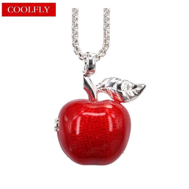 Trendy style locket openable red apple pendants necklaces fashion trendy style locket openable red apple pendants necklaces fashion brand glam apple pendant gift jewelry aloadofball Choice Image