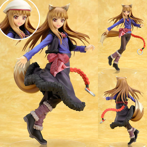 20cm Sexy Spice and Wolf Anime HOLO purple dress ver Action Figure PVC Collection toys for christmas gift starz game wow orc raider wolf rider knight pvc static figure toys battle ver 26cm chinamon green