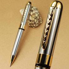 Jinhao 250 stylo à bille torsadé argent et doré livraison gratuite