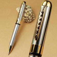 Jinhao 250 כסף וזהב טוויסט כדורי עט משלוח חינם