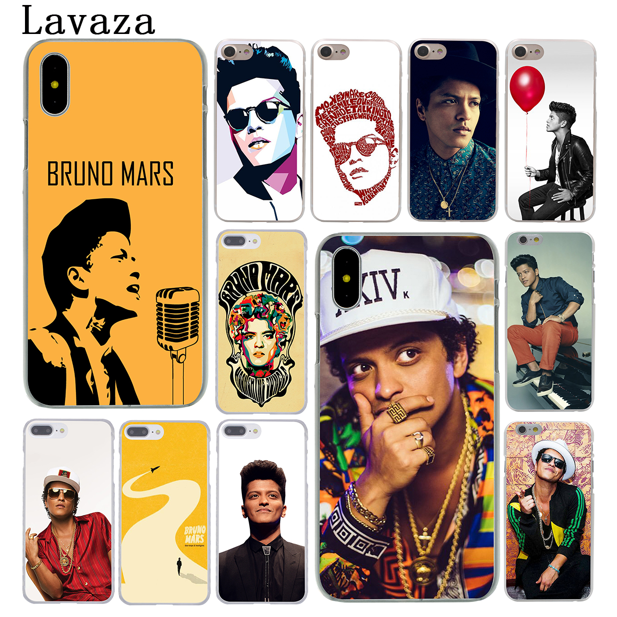 Lavaza Bruno Mars Hard Phone Case for Apple iPhone 6 6s 7 8 Plus 4 4S 5 5S SE 5C Cover for iPhone XS Max XR Cases