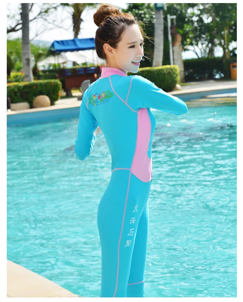 Buy child wetsuit girls neoprene keep warm swimming lycra diving suit kids long for Children s swimming pool wetsuit
