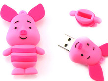 100 teile/los Pendrive Cartoon rosa Schwein USB-Stick 8 GB 16 GB 32 GB Pen Drive memory stick disk on key AD geschenk usb