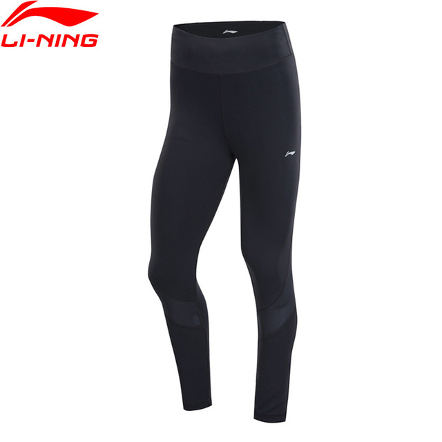 Li-Ning Women Running Series Base Layer Tight Pants Nylon Spandex Comfort Breathable LiNing Fitness Sports Tights AULP022 WKY220