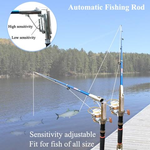 martim pescador inteligente automatico 2 7 m vara de pesca isca mordida ira desencadear e