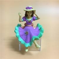 Pvc figura modelo de juguete sentado adornos dama