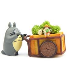 Miyazaki Hayao Dragon Cat Flower Pot Resin DIYHome Decoration Fleshy Succulent Potted Plants