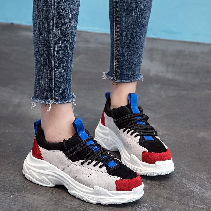 a21250b6434 Gruesa Coreana Harajuku Mujeres 1 De Aumentado Femenina Versátil Versión El  Y Verano Ulzzang Suela Primavera Nueva 2018 Zapatos ...