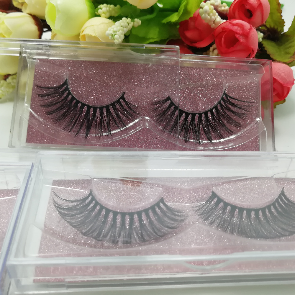Top quality 30 pairs 3D faux mink strip lash russian volume false fake eyelash extensions stable