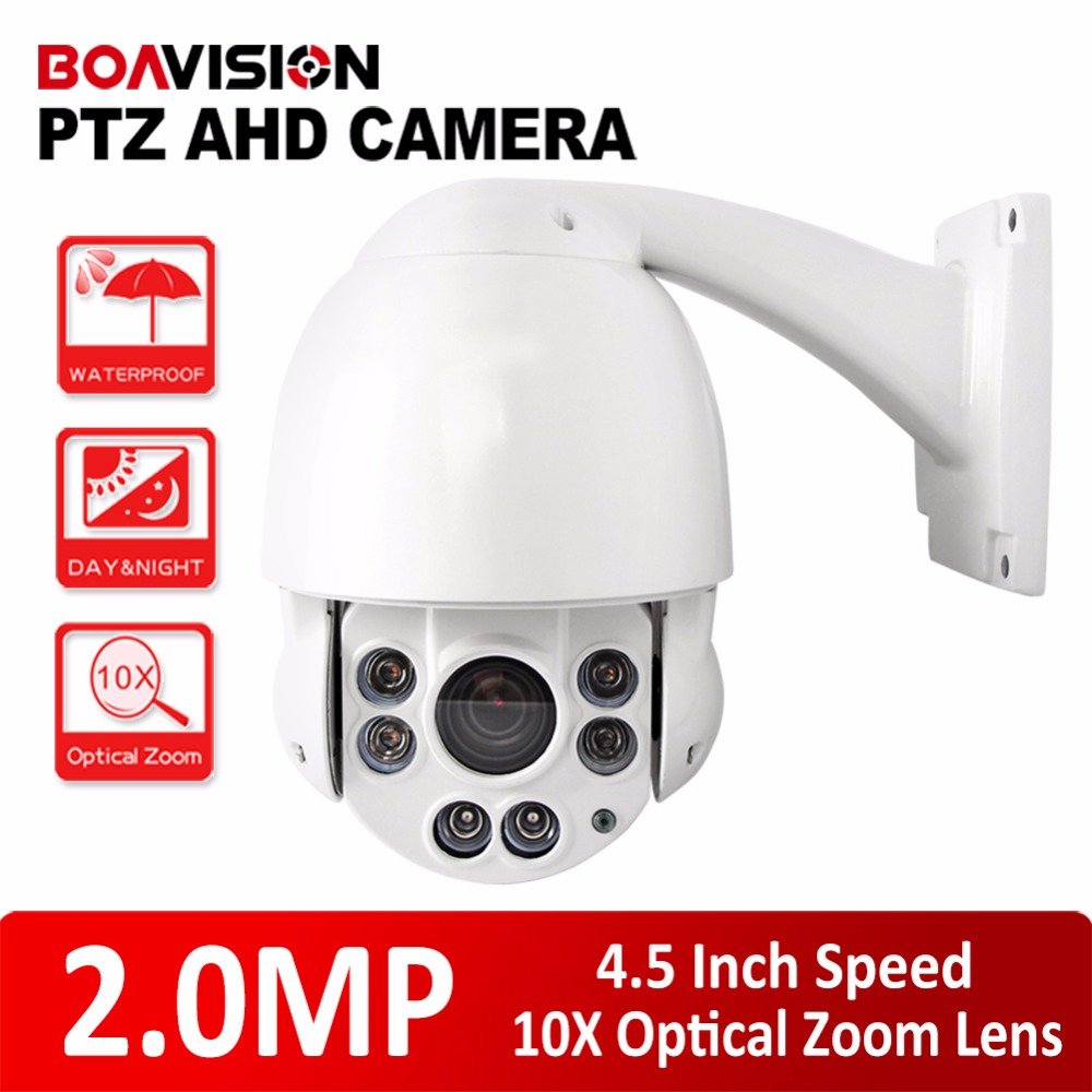 CCTV HD 1080P Speed Dome AHD PTZ Camera Outdoor 10x Optical Zoom Night vision IR 50M AHD Camera 2MP 4 Inch Housing ccdcam 4in1 ahd cvi tvi cvbs 2mp bullet cctv ptz camera 1080p 4x 10x optical zoom outdoor weatherproof night vision ir 30m