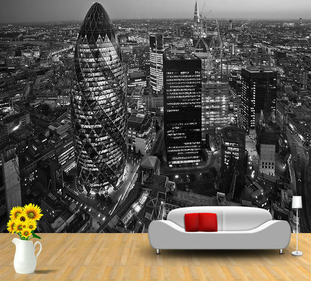 2014 Real New Tapete Arrival Wallpapers Papel De Parede Adesivo Ity of London Skyline At Sunset.jpg 640x640 - London Tapete