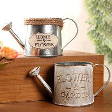 Винтажная металлическая Железная бочка для полива цветов в стиле