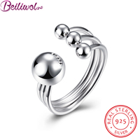 2016 New Rings For Women Joyas De Plata 925 Sterling Silver Jewelry Fashion Ball Design Ring
